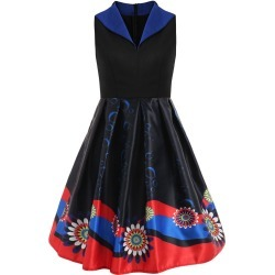 Print Sleeveless Swing Vintage Dress found on MODAPINS from dresslily for USD $24.67