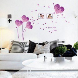 DSU Purple Flower Wall Posters Romantic Wedding Room