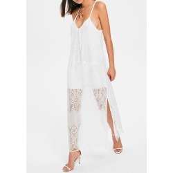 Racerback Slit Lace Beach Dress found on MODAPINS from dresslily for USD $22.54