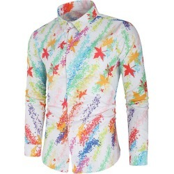 Maple Leaves Painting Print Casual Shirt found on MODAPINS from dresslily for USD $29.99