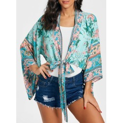 Floral Print Bell Sleeve Kimono found on MODAPINS from dresslily for USD $12.29