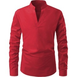 Solid Color V-Neck Casual Shirt found on MODAPINS from dresslily for USD $18.06