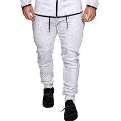 Zipper Pocket Print Drawstring Sport Jogger Pants