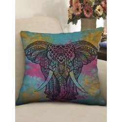 Elephant Print Sofa Linen Pillowcase