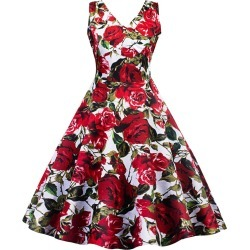Wrap Floral Print A Line Dress found on MODAPINS from dresslily for USD $25.13