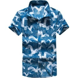 Seagulls Print Short Sleeves Beach Shirts found on MODAPINS from dresslily for USD $16.85