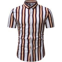 Short Sleeve Stripes Casual Shirt found on MODAPINS from dresslily for USD $19.99