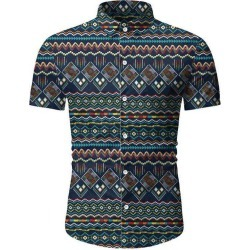Geometric Graphic Beach Shirt found on MODAPINS from dresslily for USD $19.99
