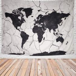 World Map Living Room Home Decor Tapestry