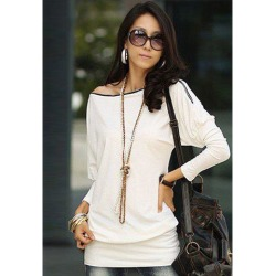 Long Zipper Embellished Long Sleeve T-Shirt found on MODAPINS from dresslily for USD $9.39