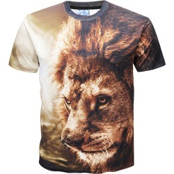 Lion Print Crew Neck T-shirt found on MODAPINS from dresslily for USD $14.94
