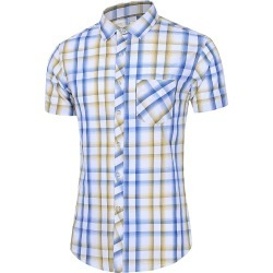 Short Sleeve Plaid Pocket Casual Shirt found on MODAPINS from dresslily for USD $22.99