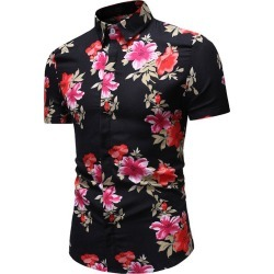 Floral Pattern Button Casual Shirt found on MODAPINS from dresslily for USD $16.42
