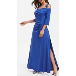 Half Sleeve Cold Shoulder A Line Dress found on MODAPINS from dresslily for USD $36.39