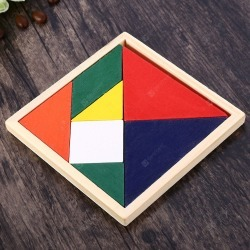 Colorful Wooden Brain Training Geometry Tangram
