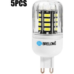 5pcs BRELONG 30 x SMD5733 G9 6W 600LM LED Corn Light
