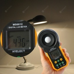 HYELEC MS6612 200000 Lux Light Meter Test Spectra Auto Range Digital Luxmeter