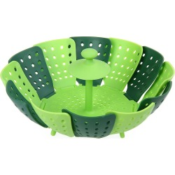 Foldable Food Cooking Steamer Fruit Vegetable Basket