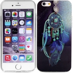 Ultrathin Wind Chime Pattern TPU Material Back Case for iPhone 6 - 4.7 inches