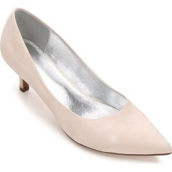Women's Wedding Shoes Kitten Heel Comfort Basic Pump Spring Summer Satin Wedding Dress Party Shoes