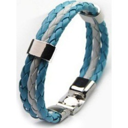 Chic Faux Leather Argentina Bracelet For Men
