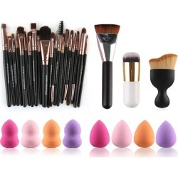 23 Pcs Makeup Brushes and Beauty Blenders