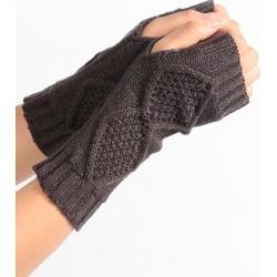 Crochet Knitted Exposed Finger Gloves