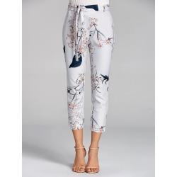 Floral Print Capri Pants