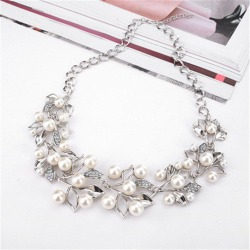 Necklaces & Pendants Leaves Statement Necklace Women Collares Ethnic Jewelry for