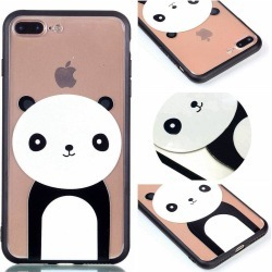 Cover Case for Iphone 8 Plus Relievo Giant Panda Soft Clear TPU Mobile Smartphone Cover Shell Case
