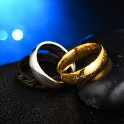 Jewelry Stainless Steel Rings Lord of The Rings Men and Women Couples Titanium Steel Rings