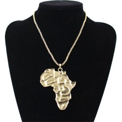 Ancient ANKH Egyptian African Map Pendant