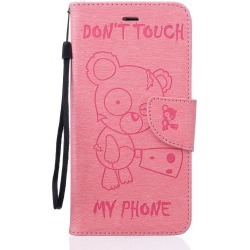 Little Bear Embossed Wallet Flip PU Leather Card Holder Standing Phone Case for iPhone 6 Plus / 6s Plus
