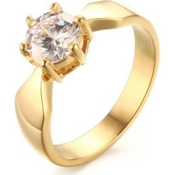 Gold Plated Rhinestone Wedding Ring