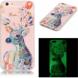 Watercolor Deer Luminous Ultra Thin Slim Soft TPU Silicone Case for iPhone 6 Plus / 6s Plus