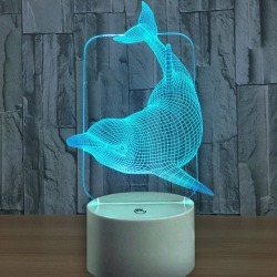 Dolphin Touch Colors Changing LED Night Light found on Bargain Bro Philippines from rosegal for $15.41