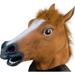 Party Latex Animal Horse Head Mask Fantastic Whimsey Costume Party Decoration