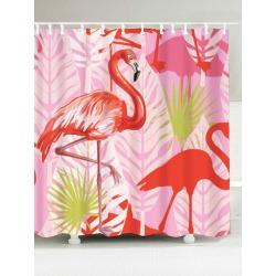 Bathroom Waterproof Fabric Flamingo Shower Curtain