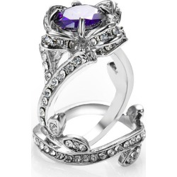 womens wedding crystal finger ring