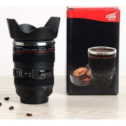 Hot Sale Heat-Resistant Coffee Tea Cup Camera Lens Mug 400ML