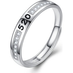 Men's Silver Ring Adjustable01301 Jewelry Gift found on MODAPINS from rosegal for USD $13.68