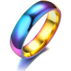 Stainless steel colorful ring for mans jewelry