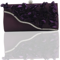 2018 Direct Selling Top Women Floral Hasp Diamond Satin Flower Evening Clutch Bag found on Bargain Bro India from rosegal for $19.95