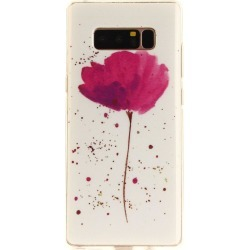 Song For Orchid Soft Clear IMD TPU Phone Casing Mobile Smartphone Cover Shell Case for Samsung Galaxy Note 8
