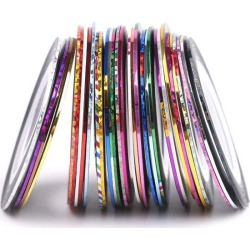 30 Colours Roll Nail Art Stickers Nail Art Strip Tapes