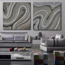 Handed Canvas Modern Abstract Oil Painting title=