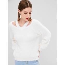 V Neck Cut Out Sweater found on MODAPINS from Zaful for USD $22.80