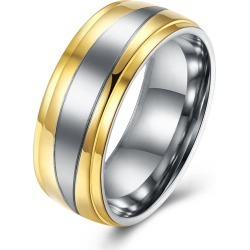 Two Tone Round Finger Ring