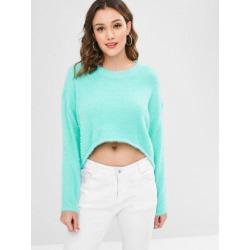 Fuzzy High Low Sweater