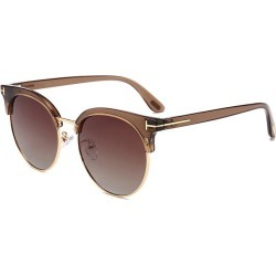 T Decorative Metal Frame Driver Sunglasses